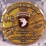 101st Airborne Division (Air Assault) OIF 2003 Combat Coin