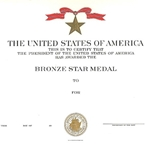 Bronze Star Medal, Navy, Type 1