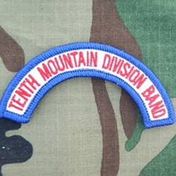 10th Mountain Division Band Tab, A-1-1046