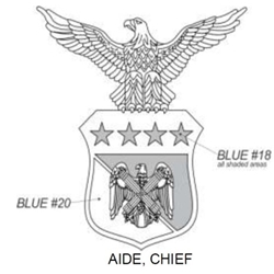 Insignia, Aide, Chief, National Guard Bureau, U.S. Air Force, MIL-DTL-15665/114