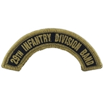Army Band Tab, 29th Infantry Division Band, A-1-1115, OCP / MultiCam® / Scorpion, with Velcro®