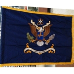 Flag, Organizational, 502nd Infantry Regiment, Rayon, 3 feet by 4 feet with yellow fringe