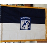 Flag, Organizational, XVIII Airborne Corps, Rayon, 3 feet by 4 feet with yellow fringe
