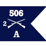 Guidons, Alpha Company, 2nd Battalion, 506th Infantry Regiment , 20-inch hoist by a 27-inch fly