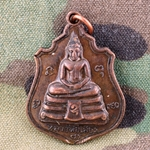 Thailand Buddha Medals, Vietnam War, Good Luck 10
