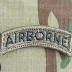 Patch, Airborne Tab, Subdued/Black with Velcro®