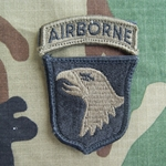 Patch, 101st Airborne Division With Airborne Tab, Subdued