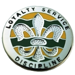 DUI, 1st Military Police Company, Motto, LOYALTY SERVICE DISCIPLINE