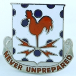 DUI, 25th Signal Battalion, Motto, NEVER UNPREPARED