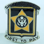 DUI, 15th Finance Battalion, Motto, SWIFT SUPPORT, FIRST TO PAY