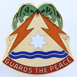 DUI, 53rd Signal Brigade, Motto, Guards the Peace