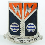 DUI, 58th Signal Battalion, Motto, SPIRIT SPEED STRENGTH