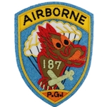 Patch, Reunion, 187th Parachute Infantry Regiment Color