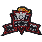 Patch, 159th Aviation Brigade, PFDR, 7th Battalion, 101st Aviation Regiment, Color, Large Old Type