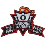 Patch, 159th Aviation Brigade, PFDR, 4th Battalion, 101st Aviation Regiment, Color, Small Old Type