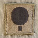 Helmet Patch, DIVARTY, 101st Airborne Division, Subdued
