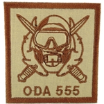 Patch, Operational Detachment Alpha (ODA) 555, Type 2, Desert - Spice Brown
