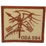 Patch, Operational Detachment Alpha (ODA) 594, Type 1, Desert - Spice Brown