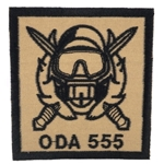 Patch, Operational Detachment Alpha (ODA) 555, Type 2, Desert - Black