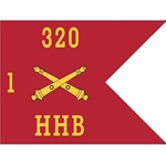 Guidons, Headquarters and Headquarters Battery, 1st Battalion, 320th Field Artillery Regiment, 20-inch hoist by a 27-inch fly