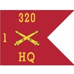 Guidons, Headquarters, 1st Battalion, 320th Field Artillery Regiment, 20-inch hoist by a 27-inch fly