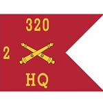 Guidons, Headquarters, 2nd Battalion, 320th Field Artillery Regiment, 20-inch hoist by a 27-inch fly
