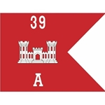 Guidons, Company A, 39th Engineer Battalion, 20-inch hoist by a 27-inch fly