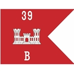 Guidons, Company B, 39th Engineer Battalion, 20-inch hoist by a 27-inch fly