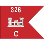 Guidons, Company C, 326th Engineer Battalion, 20-inch hoist by a 27-inch fly