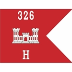 Guidons, Company H, 326th Engineer Battalion, 20-inch hoist by a 27-inch fly