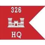 Guidons, Company HQ, 326th Engineer Battalion, 20-inch hoist by a 27-inch fly