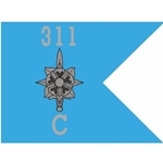 Guidons, Company C, 311th Military Intelligence Battalion, 20-inch hoist by a 27-inch fly