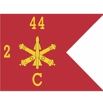 Guidons, Company C, 2nd Battalion 44th Air Defense Artillery Regiment, 20-inch hoist by a 27-inch fly