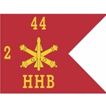 Guidons, HHB, 2nd Battalion 44th Air Defense Artillery Regiment, 20-inch hoist by a 27-inch fly