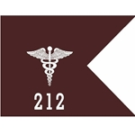 Guidons, 212th Combat Stress Control (COSC), 20-inch hoist by a 27-inch fly
