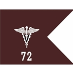 Guidons, 72nd Veterinary Detachment, 20-inch hoist by a 27-inch fly