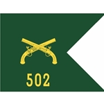 Guidons, 502nd Military Police Battalion (CID), 20-inch hoist by a 27-inch fly