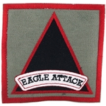"Patch, 3rd Battalion, 101st Aviation Regiment ""Eagle Attack"", Foliage Green"