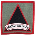 "Patch, 4th Battalion, 101st Aviation Regiment ""Wings of the Eagle"", Foliage Green"