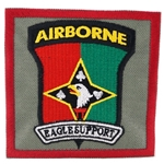 "Patch, 101st Corps Support Group, ""Eagle Support"", Type 1, Foliage Green"