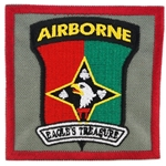 "Patch, 101st Finance Battalion, ""Eagle's Treasure"", Type 1, Foliage Green"