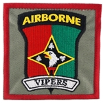 "Patch, 101st Human Resource Company, ""Vipers"", Type 1, Foliage Green"