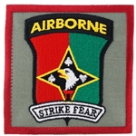 "Patch, 2nd Battalion 44th Air Defense Artillery Regiment, ""Strike Fear"", Type 1, Foliage Green"