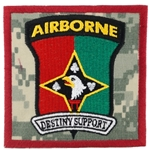 "Patch, 101st Soldier Support Battalion, ""Destiny Support"", Type 1, ACU"