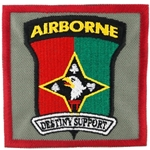 "Patch, 101st Soldier Support Battalion, ""Destiny Support"", Type 1, Foliage Green"
