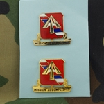 "DUI, 41st Field Artillery Regiment, Motto, ""MISSION ACCOMPLISHED"""