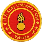 "Patch, Branch Of Service Veteran ""Ordnance Corps"""