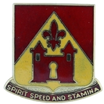 DUI, 229th Field Artillery Battalion, Motto, SPIRIT SPEED AND STAMINA