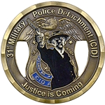 Challenge Coin, 31st Military Police Detachment (CID)