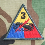 Patch, 3rd Armored Division, without Spearhead Tab, Color